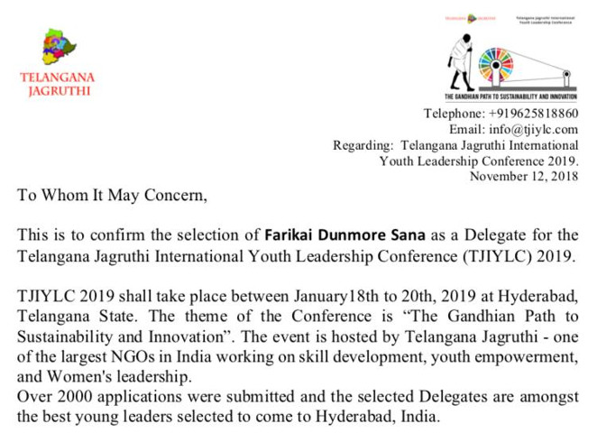 HELP ME ATTEND THE INTERNATIONAL YOUTH LEADERSHIP CONFERENCE
